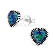 Kolczyki Niebieskie Serce