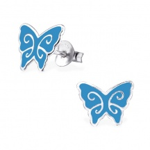 Kolczyki Błękitne Motylki