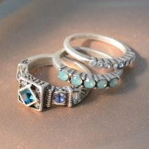 komplet pierścionków longevity 9