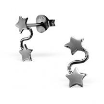 Kolczyki Dwie Gwiazdki