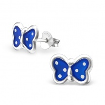 Kolczyki Szafirowe Motylki