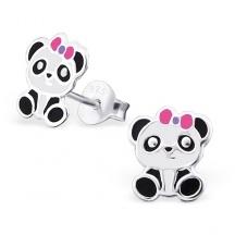 Kolczyki Panda z Kokardką