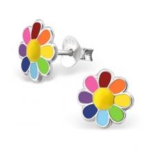 Kolczyki z Kolorowym Kwiatkiem