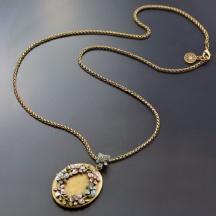 Naszyjnik Romantyczny Medalion