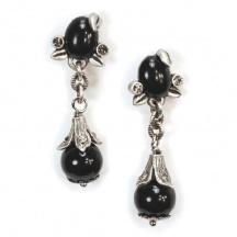 Kolczyki z Czarnymi Kamieniami