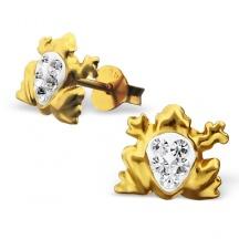 Kolczyki Złote Żaby