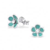 Kolczyki Niebieski Kwiatek