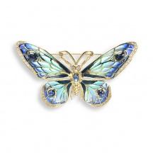 Złota Broszka z Motylem