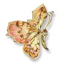 Broszka Złoty Motyl