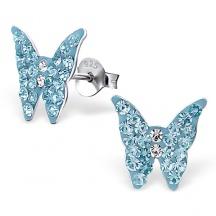 Kolczyki dla Dzieci z Motylkiem