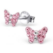 Kolczyki Różowe Motyle
