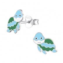 Dziecięce Kolczyki Żółwie