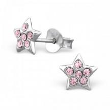Kolczyki Różowe Gwiazdki