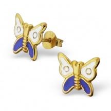 Kolczyki Pozłacane Motylki