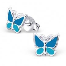 Kolczyki dla Dziecka z Motylkiem