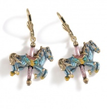 Kolczyki Konie z Karuzeli