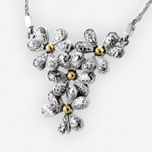 Srebrny Naszyjnik Kwiaty
