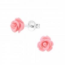 Kolczyki z Różową Różą