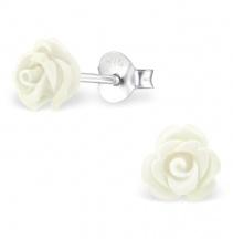Kolczyki z Białą Różą