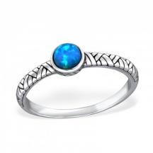 Pierścionek Niebieski Opal