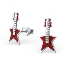 Kolczyki z Gitarami