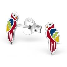 Kolczyki Kolorowe Papugi