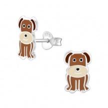 Kolczyki Brązowy Pies