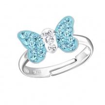 Pierścionek Niebieskie Kryształki