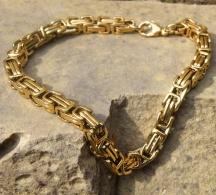 Męska Bransoletka w Złotym Kolorze