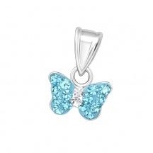 Wisiorek z Niebieskim Motylkiem