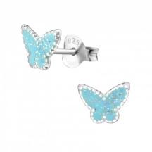 Kolczyki Motylki z Brokatem
