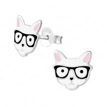 Kolczyki Kot w Okularach