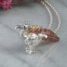 Srebrna Bransoletka z Ptakiem