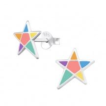 Kolczyki Pastelowe Gwiazdy