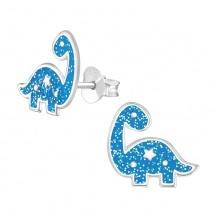 Kolczyki Niebieskie Dinozaury
