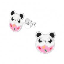 Kolczyki Różowa Panda