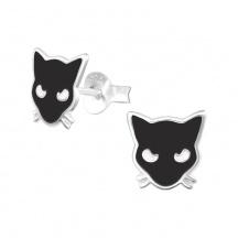 Kolczyki Koty Czarne