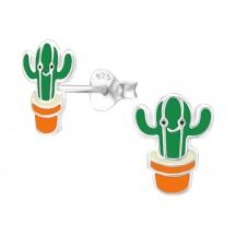 Kolczyki dla Dzieci z Kaktusem
