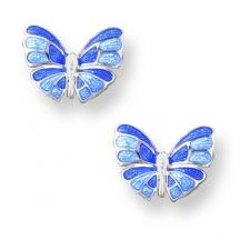 Srebrne Kolczyki Motylki