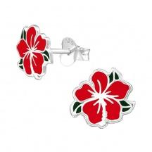 Kolczyki z Czerwonym Kwiatkiem