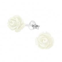 Kolczyki Białe Róże