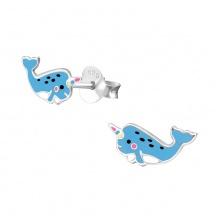 Kolczyki Wieloryb Jednorożec