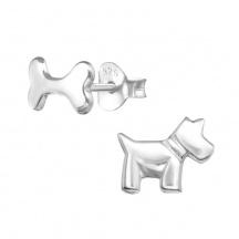 Kolczyki Pies i Kość