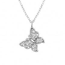 Naszyjnik Ażurowy Motyl