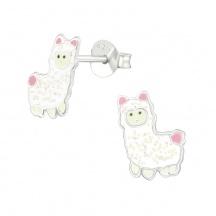 Kolczyki dla Dzieci z Alpaką