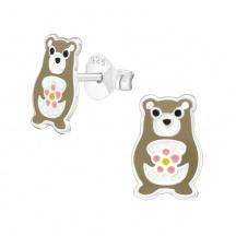Kolczyki dla Dzieci Niedźwiedź