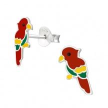 Kolczyki z Czerwoną Papugą