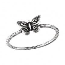 Motyl Pierścionek Srebrny