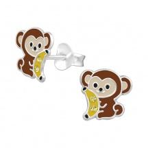 Kolczyki Małpka z Bananem