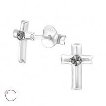 Kolczyki Krzyżyk z Kryształkami